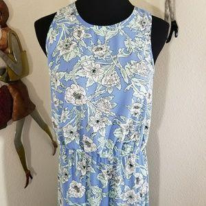 Periwinkle floral  Maxi Dress H&M sz 12